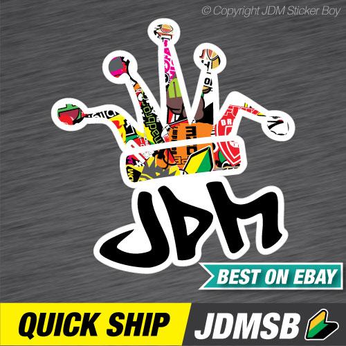 JDM CLOWN CROWN BLACK FONT BOMB JDM Car Sticker Decal Car