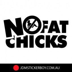 0737---No-Fat-Chicks-Sign-W