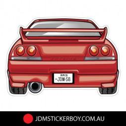 1546K---JDMSB-Garage-SKYLINE-R33-GTR-RED-121x83-W