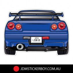 1547K---JDMSB-Garage-SKYLINE-R34-GTR-117x82-BLUE-W