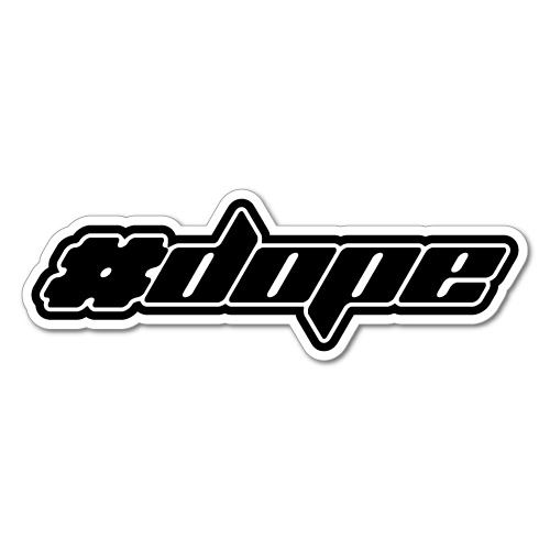 Large DOPE logo symbol vinyl car  window Euro JDM Drift decal sticker