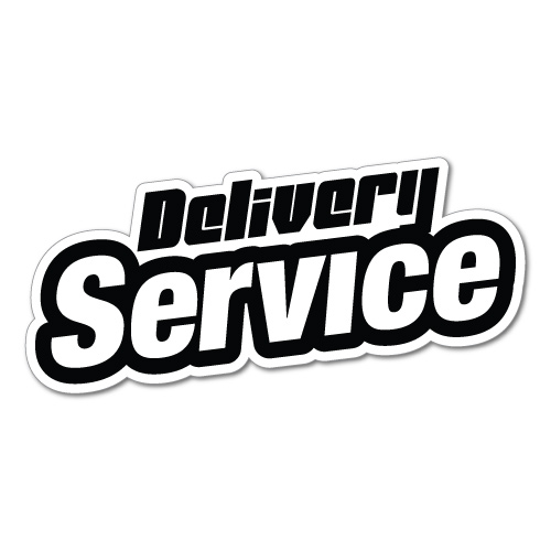 Delivery Service Jdm Sticker Decal Car Drift Turbo Euro