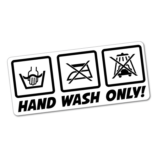 Hand Wash Only2 Jdm Sticker Decal Car Drift Turbo Euro