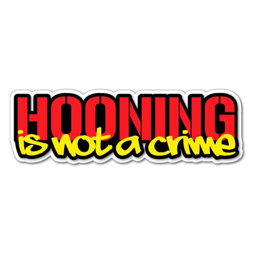 """Street Racing Is Not A Crime"" Sticker Slap"